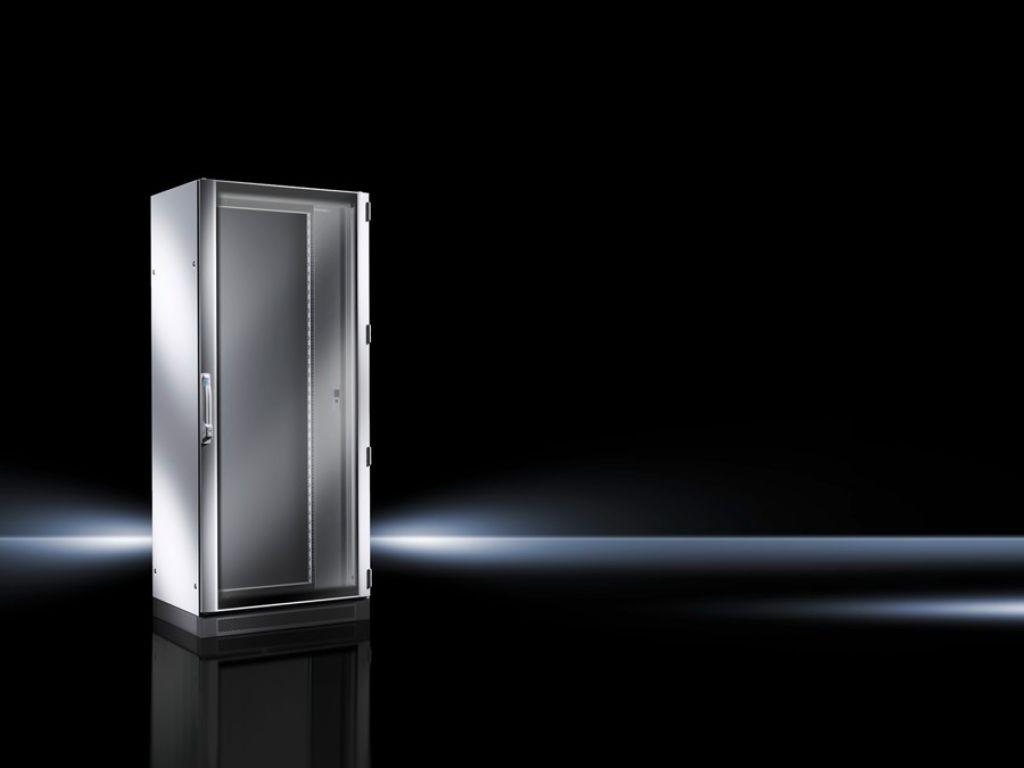 网络/服务器机柜 TS IT 带玻璃门,经预装处理,带 19