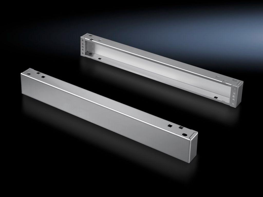Sokkelelementen voor en achter, 100 mm roestvaststaal voor TS, SE