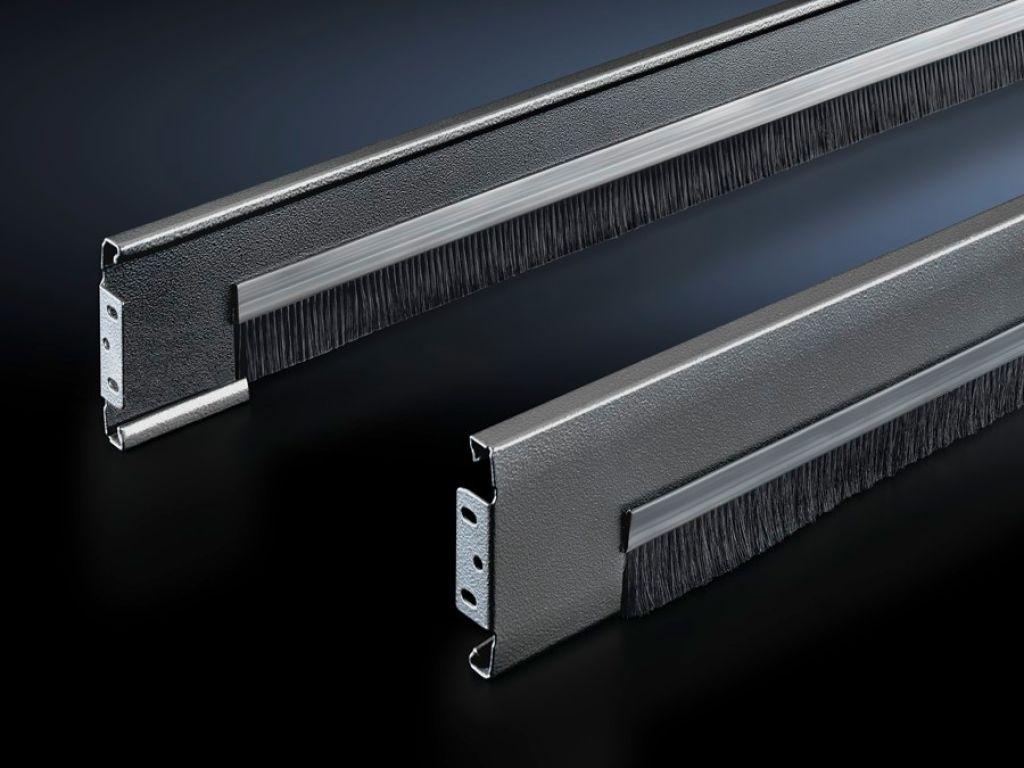 Flex-Block trim panels, 100mm, with brush strip for Flex-Block corner pieces