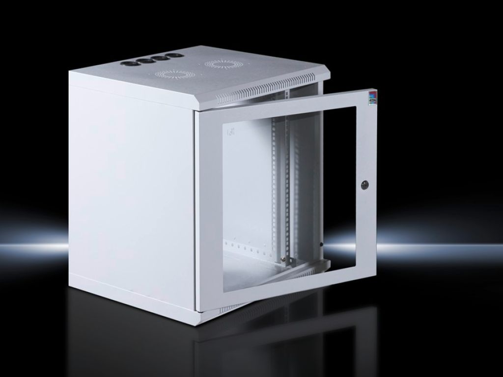 Wall-Mount Network Enclosure with glazed door, with 482.6 mm (19