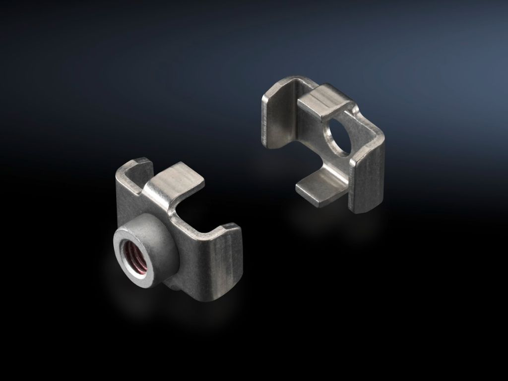 Busbar claw for flat copper busbars