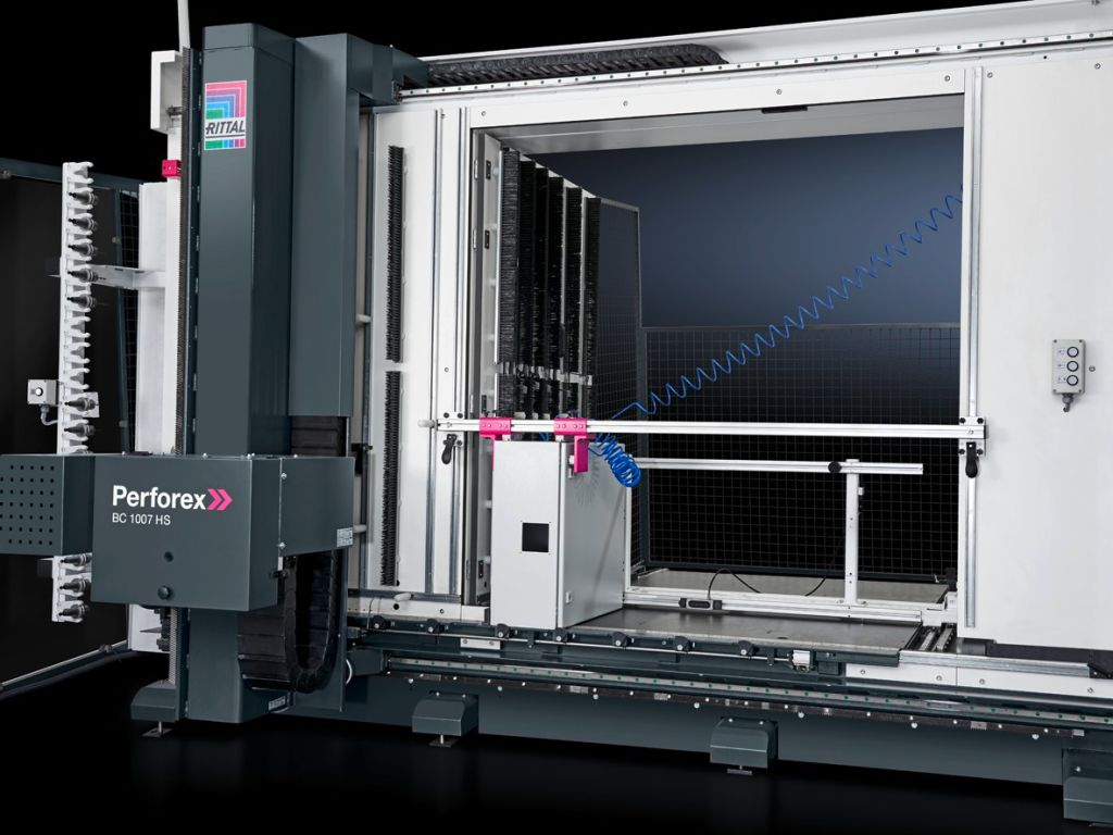 Enclosure machining for Perforex BC 1001 HS