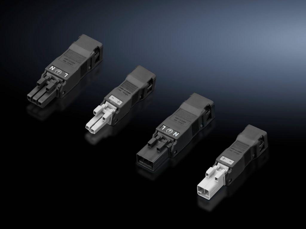 Tilkoblingstilbehør for egenkonfeksjonering for systembelysning LED, plugg/kontakt