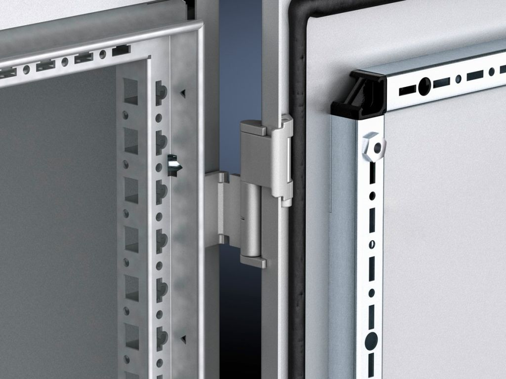 180° hinge for VX IT bayed rack suites with comfort handle