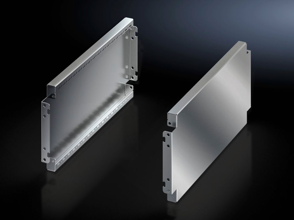 Base/plinth trim panels, side, 200 mm, stainless steel For VX base/plinth systems