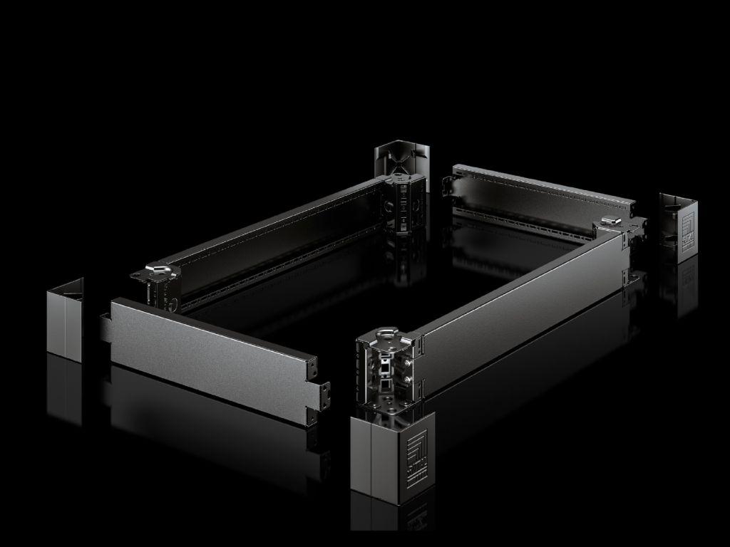 Cover for base/plinth corner piece for base/plinth system VX