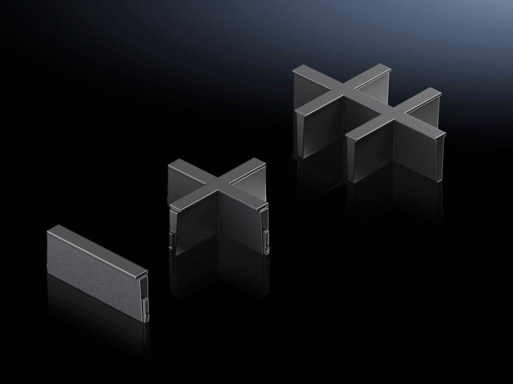 Indelning för plastfläns i moduler och tätningsram i moduler