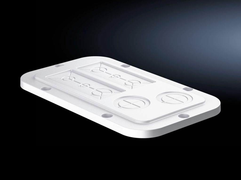 Plaques passe-câbles en plastique avec empreinte métrique préestampée pour AX