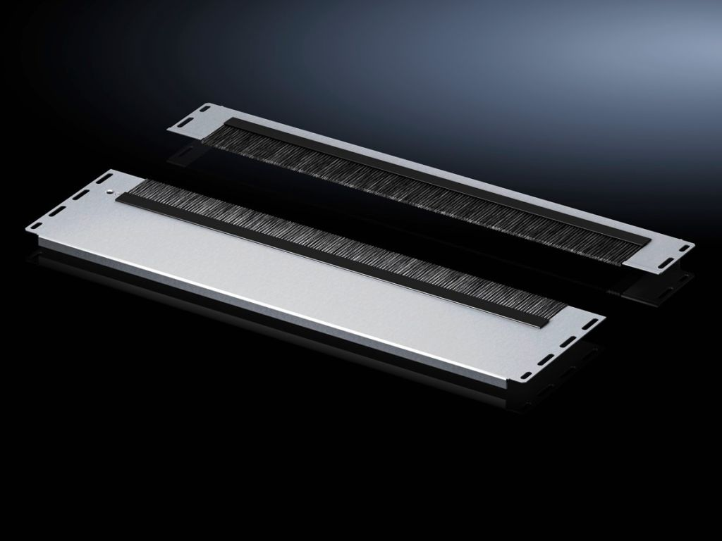 Gland plate module, multi-piece, with brush strip, super-airtight for VX IT