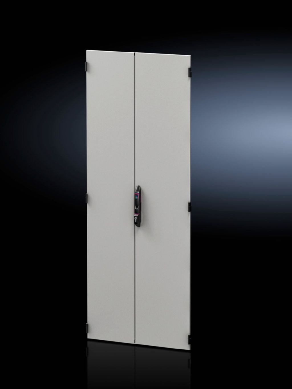 Sheet steel door, vertically divided, solid for VX IT