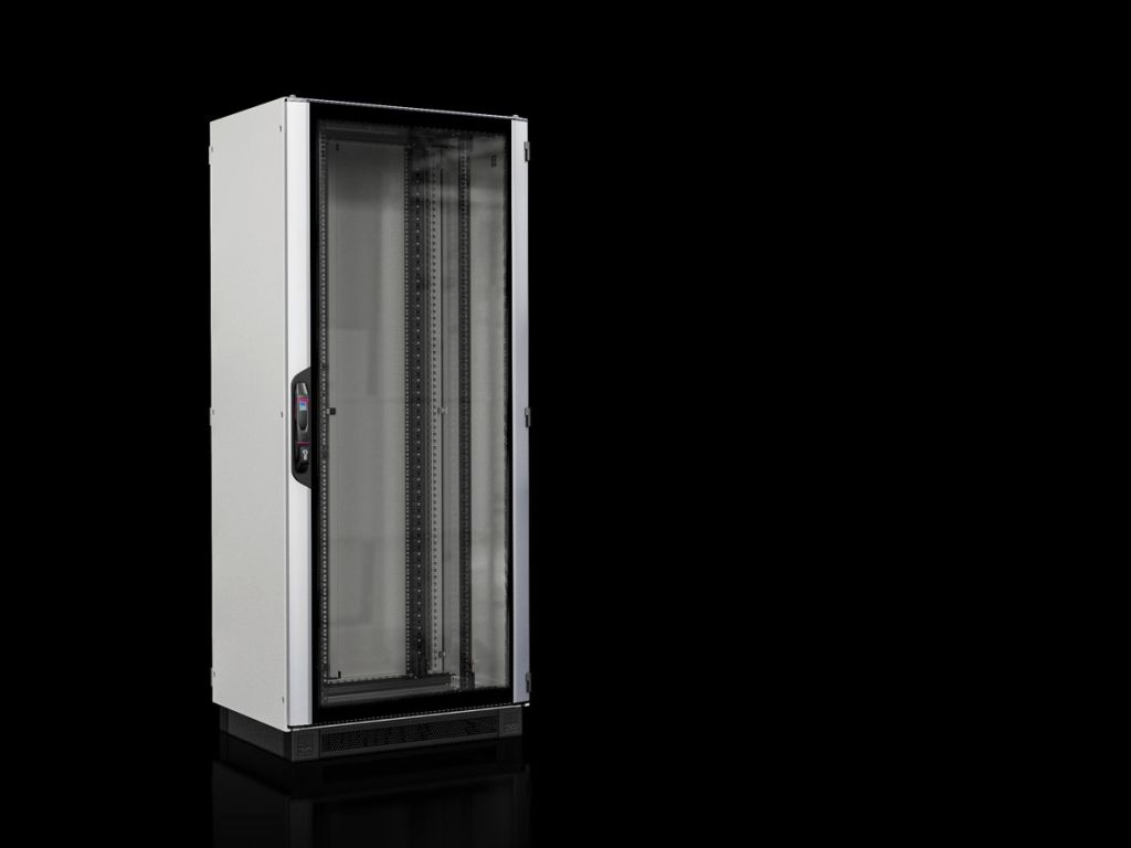 Baie réseaux/serveurs VX IT avec porte vitrée prémontée et montants 19
