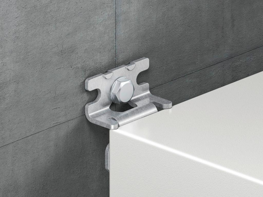 Wandbefestigungshalter für AX Stahlblech, KX Stahlblech, AX IT, EL