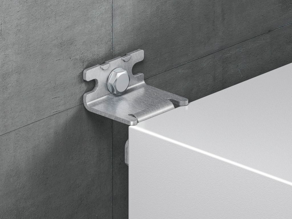 Wall mounting bracket for AX sheet steel, KX sheet steel, AX IT, EL