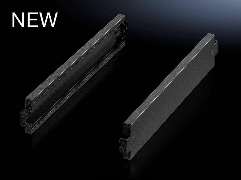 Acabamento lateral para base soleira em chapa de aço, modelo otimizado, 100 mm para o sistema de base soleira VX em chapa de aço