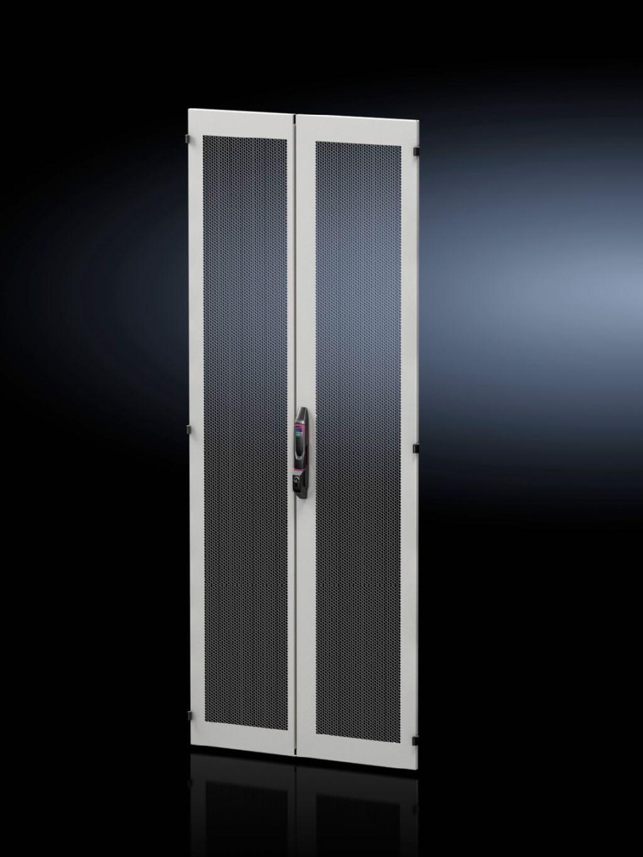 Sheet steel door, vertically divided, vented for VX IT