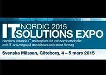 Träffa oss på IT Solutions Expo mässan