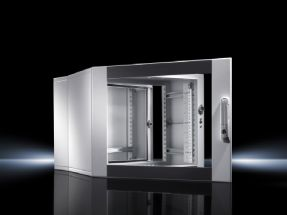 Wall-mounted enclosures EL, 3-part with punched rails and profile rails, depth-variable