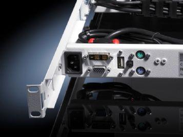 Monitor-Tastatur-Einheit mit 17˝-TFT-Display und VGA/DVI-Anschluss